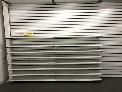60 X White Slat Wall Shelves With Chrome Brackets Shop Retail Display