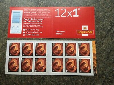 GB Stamps: 2019 Christmas Stamp Booklet 1st Class With Cylinder Numbers