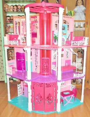 2013 barbie 3 story dream house With Extra Furniture And Accessories