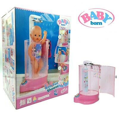 Baby Born Dolls Rain Fun Shower Designer Spa Playset Working Parts Automatic Toy