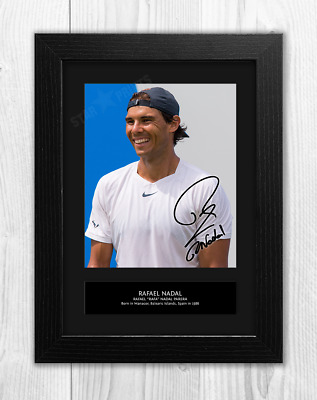 Rafa Nadal Signed Autographed 21cm x 29.7cm A4 Photo Poster