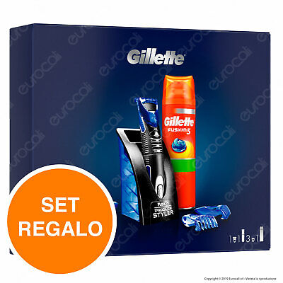 Gillette Styler Set Regalo Con Styler e Gel Da Barba Fusion5 Sensitive