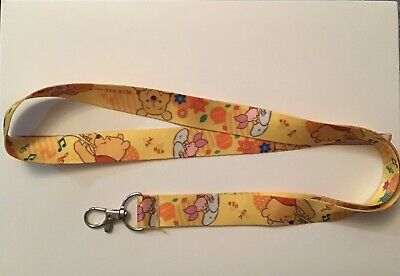 WINNIE THE POOH PIGLET INSPIRED LANYARD Phone Neck Strap Key Pin Holder ID