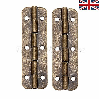 2/10x Long Hinge Vintage 51*16mm Jewelry Box Bronze Tone Decor Hardware