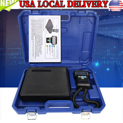 220 lbs Electronic Refrigerant Charging Digital Weight Scale with Case A//C HVAC