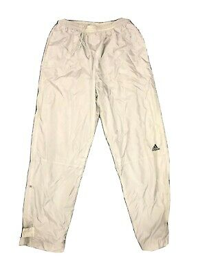 ADIDAS Mens Three Stripe Pants Track Athletic Warm Up Running Strap Ankle Sz M