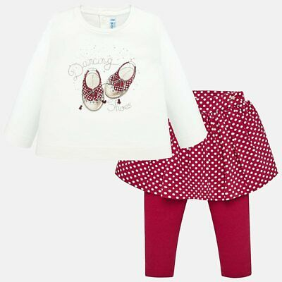 New Mayoral Baby Girls skirt leggings and t-shirt set, Age 6 months (2748)