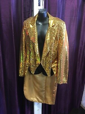 Deluxe GOLD  Sequinned Rocky Horror Tailcoat , Columbia