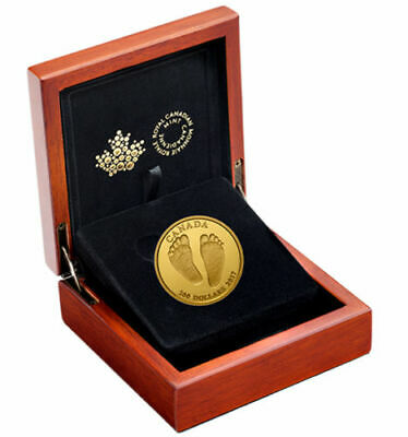 Canada 2017 $200 Welcome To The World Baby Feet  Baby Gift Pure Gold Coin