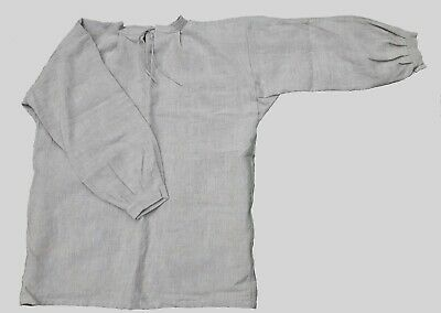 17th-18th Century Tie Collar Shirt - Unbleached/Oatmeal Linen (Various Sizes)