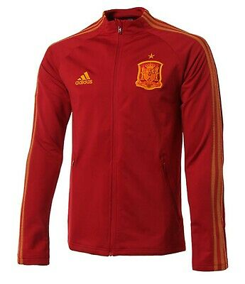 ADIDAS MEN FEF Spain Anthem Track Training Jacket Red Soccer