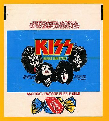 KISS 1978 Trading Card Wrapper - From Donruss Aucoin Wax Pack - Heavy Metal Rock