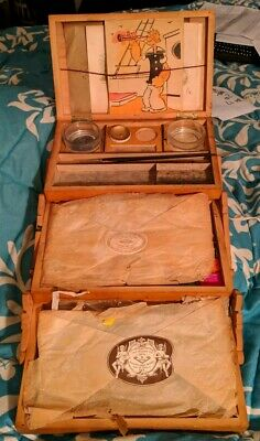 Vintage Children's Bourgeois Watercolor Set W/ Charcoals & PopeyeColoring Pages