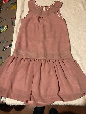 Girls Debenhams Blue Zoo Light Pink Dress With Sequin Age 12