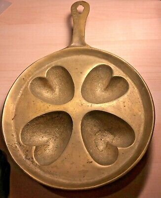 Antique Brass Candy or Chocolate Mold for Baking and Cooking HEART SHAPED