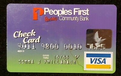 Peoples First Florida's Community Bank Visa exp 00♡Free Shipping♡cc333♡