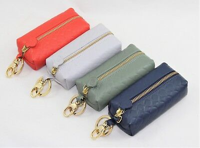 Clutch Bag Bauletto Keyring Woman Real Leather Red Coral Green Sage Blue