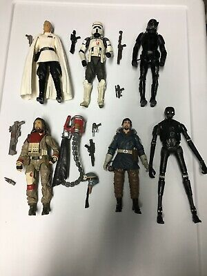 Star Wars The Black Series 6 Inch Rogue One 6 Figure Lot Baze K2SO Death Trooper