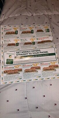 12 SUBWAY Sandwich COUPONS Big Savings Expiration: 12/29/19