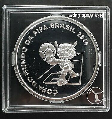 2014 Brazil FIFA World Cup Brazil Logo 27g Silver (.925) 5 Reals coin