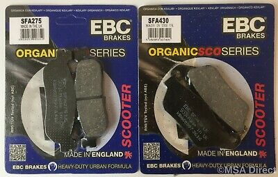 Yamaha YP250R X-Max (2005 to 2009) EBC Organic FRONT and REAR Disc Brake Pads