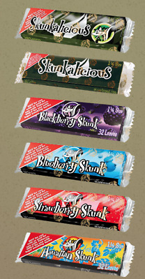 Skunk 1 1/4 Size Flavoured Rolling Papers Cigarette Tobacco Roll