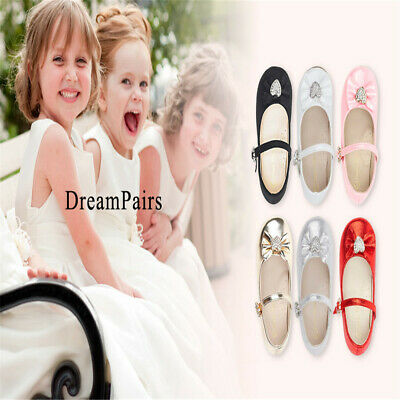 DREAM PAIRS Fashion Baby Kids Girls Flat Dress Party Shoes Toddler Princess Shoe