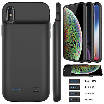 For iPhone XS Max XR X XS External Battery Charger Case Power Bank Charging Slim