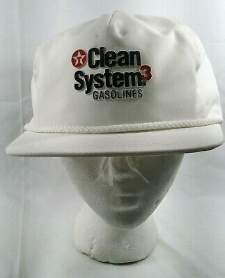 Vintage Texaco Clean Systems 3 Hat Gas And Oil Snapback Adjustable Trucker Mesh