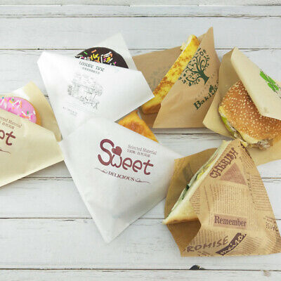 Oil-proof Food Grade Kraft Paper Food Wrappers for Bread Sandwich Burger Cake