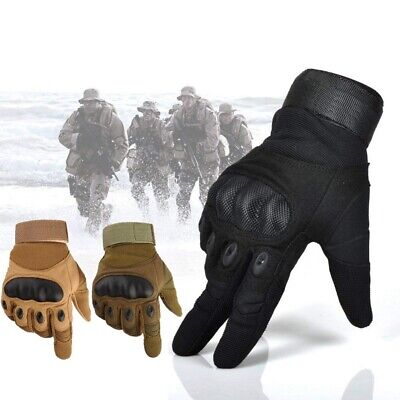 Army Tactical Full Finger Military Gloves Hard Knuckle  Shooting Bicycle Glove