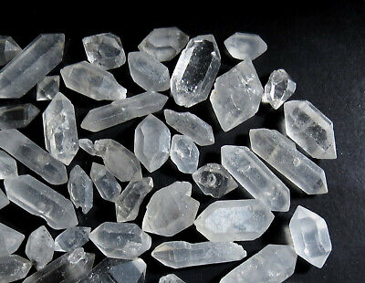 20g NATURAL DOUBLE TERMINATED QUARTZ dt EARTH MINED CRYSTAL LOTS