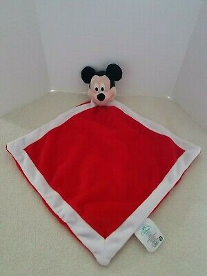 Disney Baby Collection Lovey Security Blanket Plush Mickey Mouse Red White
