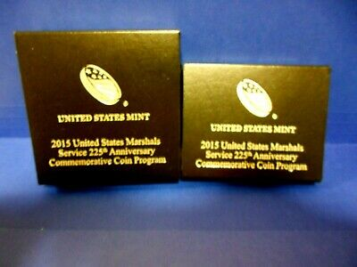 2015 US Marshals Service 225th Anniversary 2 PROOF Coins SILVER SR3 + CLAD SR5