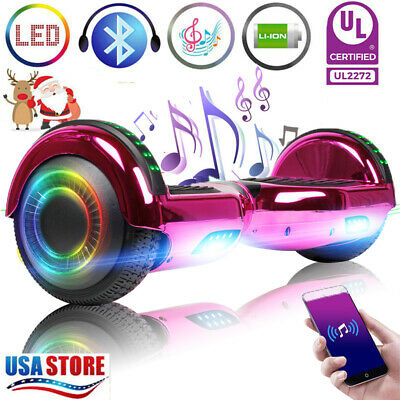 """6.5"""" Hoverboard Bluetooth LED Electric Self Balance Scooter no Bag Birthday Gift"""