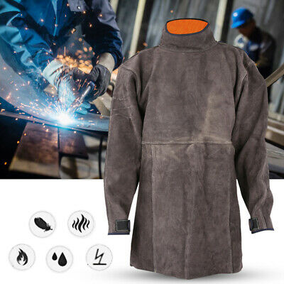 Wear-Resisting Welding Cowhide Apron Fireproof Retardant Safety Work Protection