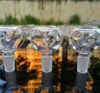14mm / 18mm Clear Round Glass Slide Bowl - USA Fast Free Shipping