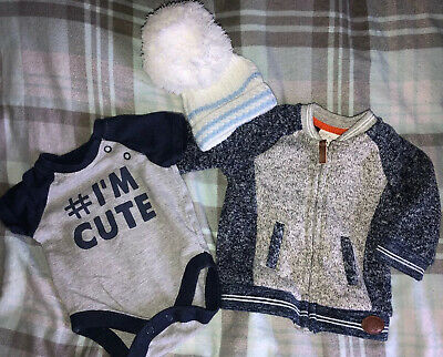 Baby Boys Bundle Of Clothes Size 0-3 Months