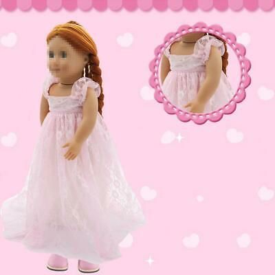 Doll Dress For 18 Inch USA Dolls Red Skirt 18 Inch Doll DECO Girl Clothes M G0T3