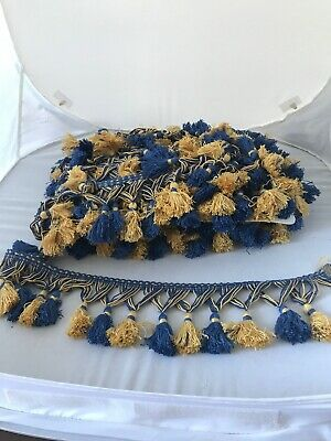 tassel Upholstery trim Blue And Gold 15m