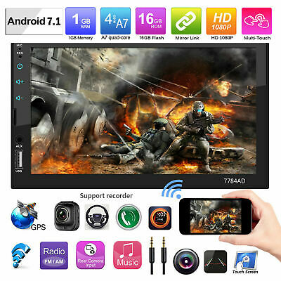 """7"""" Inch 1080P DOUBLE 2DIN Car MP5 Player Bluetooth Touch Screen Stereo Radio HD"""