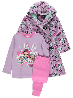LOL Surprise! Girls Pyjamas and Fleece Dressing Gown Set 3 to 10 Years BNWT