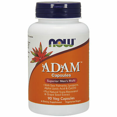 NOW Foods ADAM Superior Mens Multi 90 Vcaps | Saw Palmetto Lycopene Resveratrol