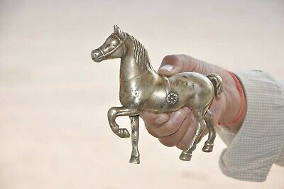 Old Brass Handcrafted Solid Unique Unique Horse Figurine, Nice Patina