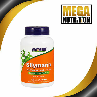 NOW Foods Silymarin Milk Thistle Extract 150mg 120 Veg Capsules | Liver Function
