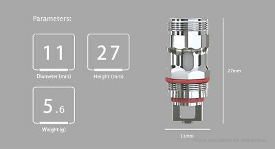 Authentic Eleaf MELO 5 Replacement EC-S Coil Head (5-Pack)