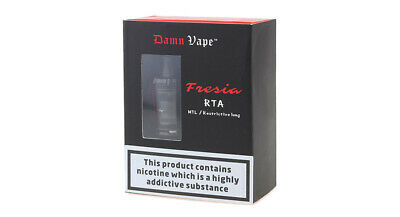 Authentic Damn Vape Fresia RTA Rebuildable Tank Atomizer (Standard Edition) Blac