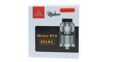 Authentic Augvape Intake Dual RTA Rebuildable Tank Atomizer Stainless Steel Colo