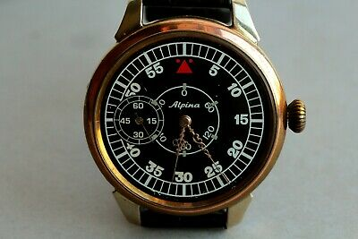 ALPINA Antique Swiss Mens Mechanical  Watch/ Art Deco Watches Pre-1920's