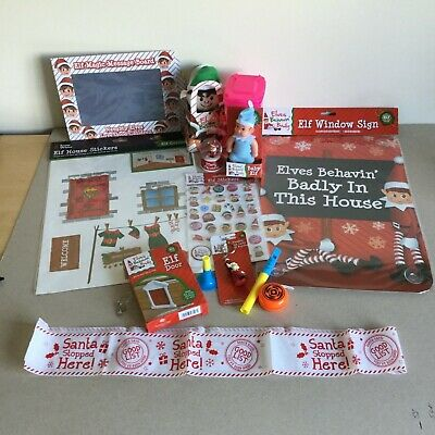 Elf props 15 items for Christmas -accessories Behavin badly on the shelf -ready